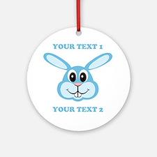 PERSONALIZE Blue Bunny Ornament (Round)