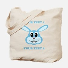 PERSONALIZE Blue Bunny Tote Bag