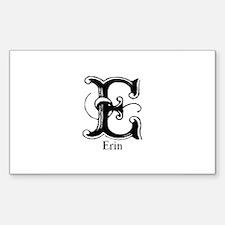 Erin: Fancy Monogram Rectangle Decal