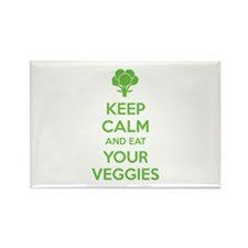 Keep calm and eat your veggies Rectangle Magnet