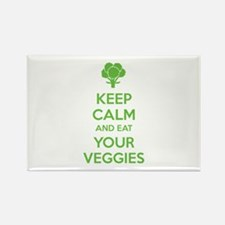 Keep calm and eat your veggies Rectangle Magnet (1