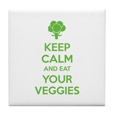 Keep calm and eat your veggies Tile Coaster