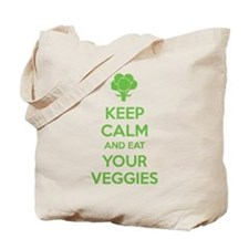 Keep calm and eat your veggies Tote Bag