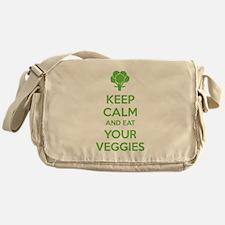 Keep calm and eat your veggies Messenger Bag