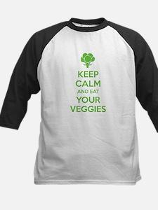 Keep calm and eat your veggies Kids Baseball Jerse