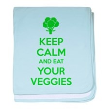 Keep calm and eat your veggies baby blanket