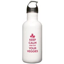 Keep calm and eat your veggies Water Bottle
