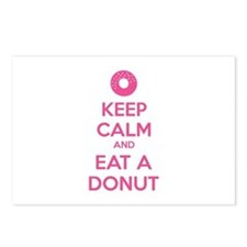 Keep calm and eat a donut Postcards (Package of 8)