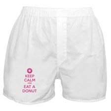 Keep calm and eat a donut Boxer Shorts