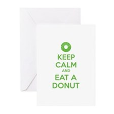 Keep calm and eat a donut Greeting Cards (Pk of 10