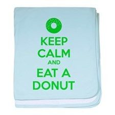 Keep calm and eat a donut baby blanket