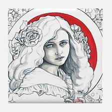 Alice Nouveau Tile Coaster