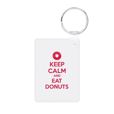 Keep calm and eat donuts Aluminum Photo Keychain