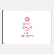 Keep calm and eat donuts Banner