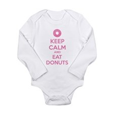Keep calm and eat donuts Long Sleeve Infant Bodysu