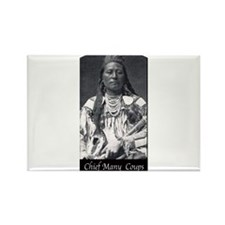 Chief Many Coups Rectangle Magnet (100 pack)
