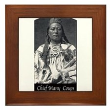 Chief Many Coups Framed Tile