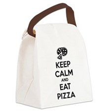 Keep calm and eat pizza Canvas Lunch Bag