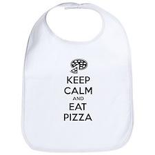 Keep calm and eat pizza Bib