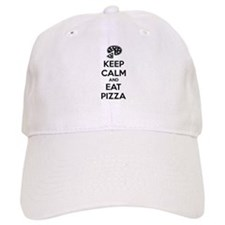 Keep calm and eat pizza Baseball Cap