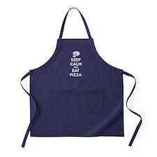 Keep calm and eat pizza Apron (dark)