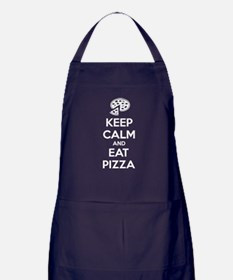 Keep calm and eat pizza Apron (dark)