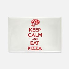 Keep calm and eat pizza Rectangle Magnet (10 pack)