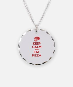 Keep calm and eat pizza Necklace