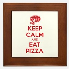 Keep calm and eat pizza Framed Tile