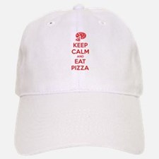 Keep calm and eat pizza Baseball Baseball Cap