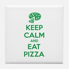 Keep calm and eat pizza Tile Coaster