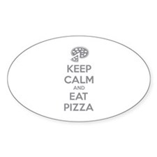 Keep calm and eat pizza Decal