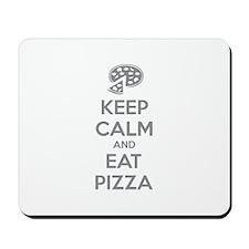 Keep calm and eat pizza Mousepad