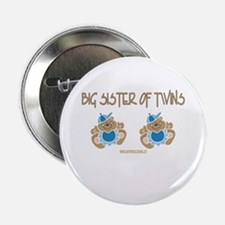 Big Sister Of Twins (2 Boys) Button