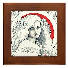 Alice Nouveau Framed Tile