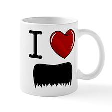 I Love Mustache Mug