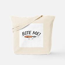 Funny Bite Me Fishing Lure Tote Bag