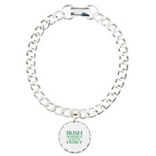 Irish Whiskey Makes Me Frisky Charm Bracelet, One