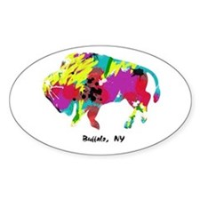 Artsy Buffalo Oval Decal
