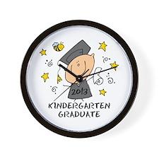 Cute Boy Kindergarten Grad 2013 Wall Clock