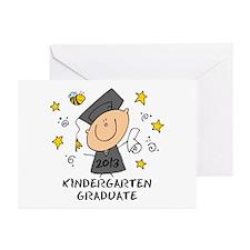 Cute Boy Kindergarten Grad 2013 Greeting Cards (Pk