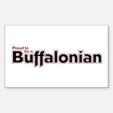 Proud to be a Buffalonian Rectangle Decal