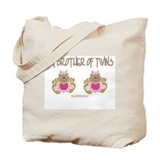 Big Brother Of Twins (2 Girls) Tote Bag