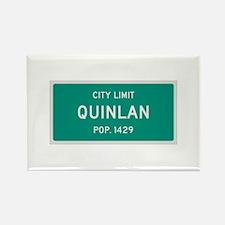 Quinlan, Texas City Limits Rectangle Magnet