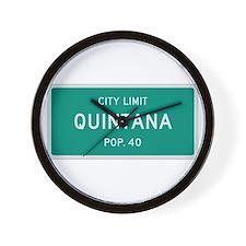 Quintana, Texas City Limits Wall Clock