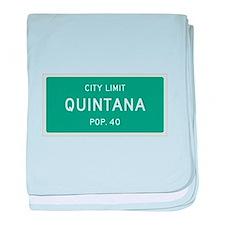 Quintana, Texas City Limits baby blanket