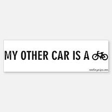 My Other Car Is A Bicycle - Bumper Bumper Bumper Sticker