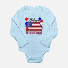 Believe in America Long Sleeve Infant Bodysuit