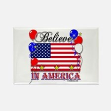 Believe in America Rectangle Magnet
