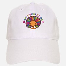 Happy Turkey Day Baseball Baseball Cap